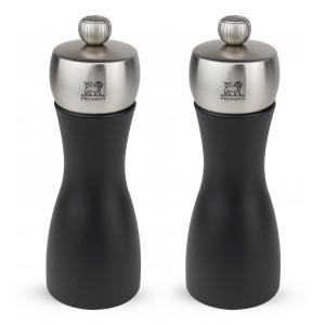 Duo Moulin à Poivre et à Sel Fidji 15 cm Noir-Inox Peugeot