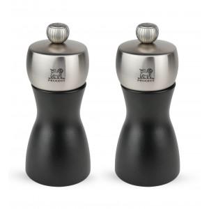 Duo Moulin à Poivre et à Sel Fidji 12 cm Noir-Inox Peugeot