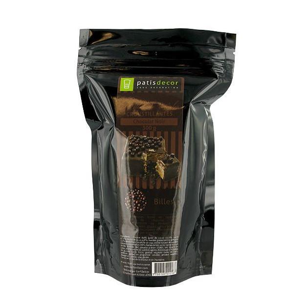 Billes de Cereales Croustillantes Chocolat Noir 300 g Patisdecor