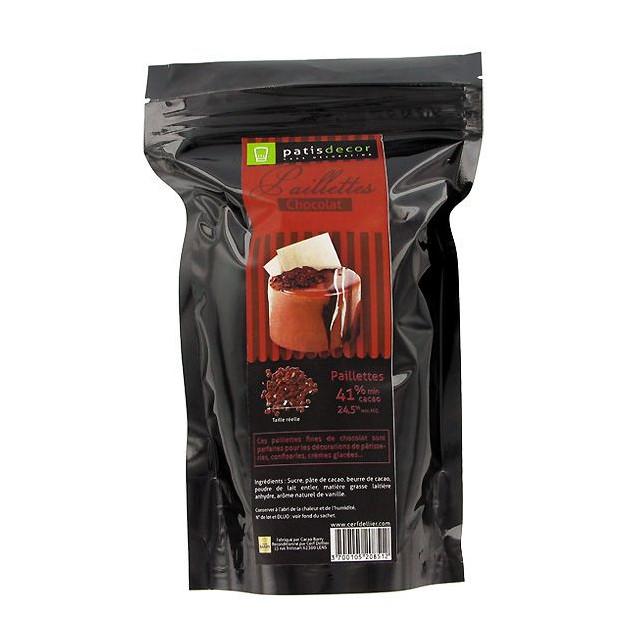Paillettes Chocolat 250 g Patisdecor