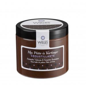 Pâte à Tartiner Chocolat Praliné Croustillant 200g Weiss