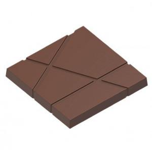 Moule Chocolat Carré avec Rayures 7,5 cm (x3) Chocolat Form