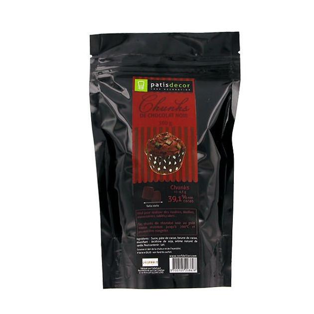 Chunks Chocolat Noir 250 g Patisdecor