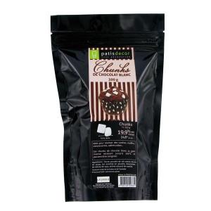 Chunks Chocolat Blanc 250 g Patisdécor