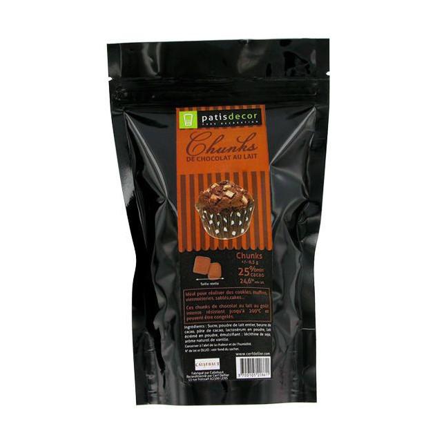 Chunks Chocolat au Lait 250 g Patisdecor