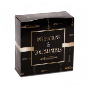 Boîte pâtissière Inspirations et Gourmandises - 22 x H 8 cm - (x50)