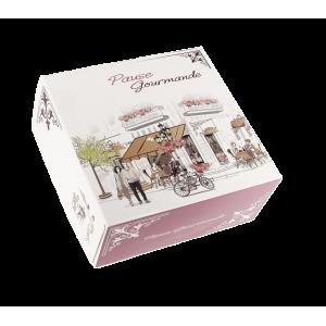 Boîte pâtissière Pause Gourmande - 25 x H 8 cm - (x50)