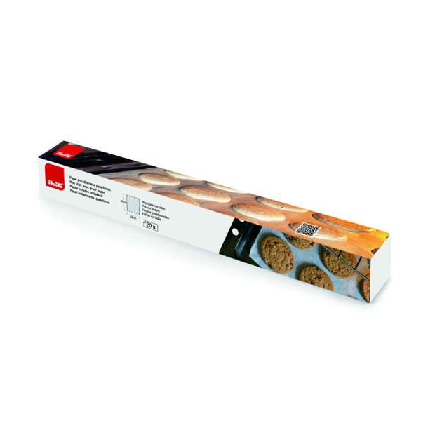 Feuille de Papier Cuisson Anti-adhésif 42 x 38 cm (x20) Ibili