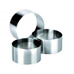 Cercles à Mousse Inox Ø 7 / 8 et 10 cm x H 4,5 cm Ibili