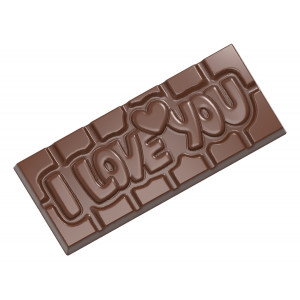 Moule Chocolat Tablette I love You (x4) Chocolate World