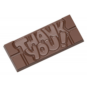Moule Chocolat Tablette Thank You (x4) Chocolate World