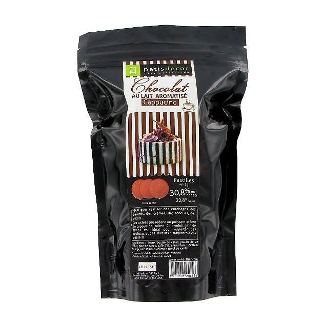 FIN DE SERIE Chocolat au Lait Arome Cappucino 250g Patisdecor
