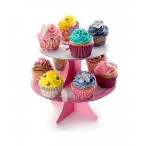 Présentoir à Cupcakes Carton Ø 25 cm x H 26 cm Ibili