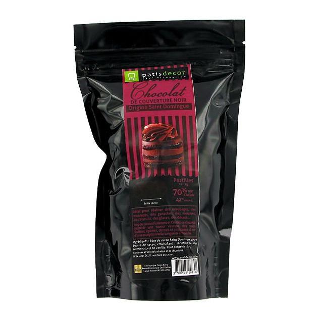 Chocolat Noir Origine St Domingue 250 g Patisdecor