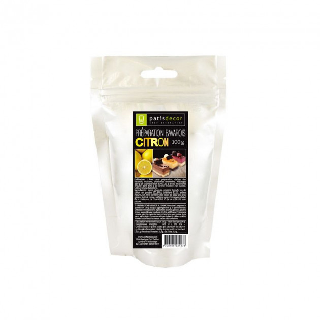 Preparation Bavarois Gel Citron 100 g Patisdecor