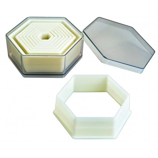Emporte-Pièce Hexagone Uni Polyglass (x9) Ibili
