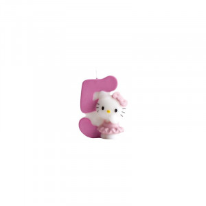 FIN DE SERIE Bougie Hello Kitty Chiffre 5