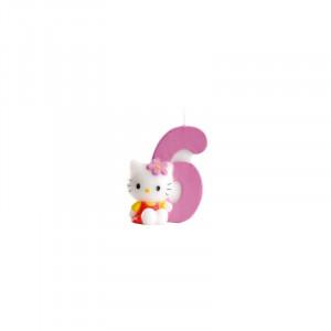 FIN DE SERIE Bougie Hello Kitty Chiffre 6