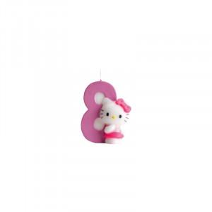 FIN DE SERIE Bougie Hello Kitty Chiffre 8