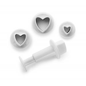 Emporte-Pièce avec Poussoir Coeur (x3) Ibili