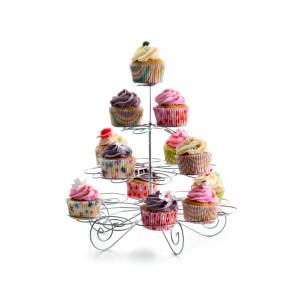 Présentoir à Cupcakes Métallique Ø 23 cm x H 33 cm Ibili