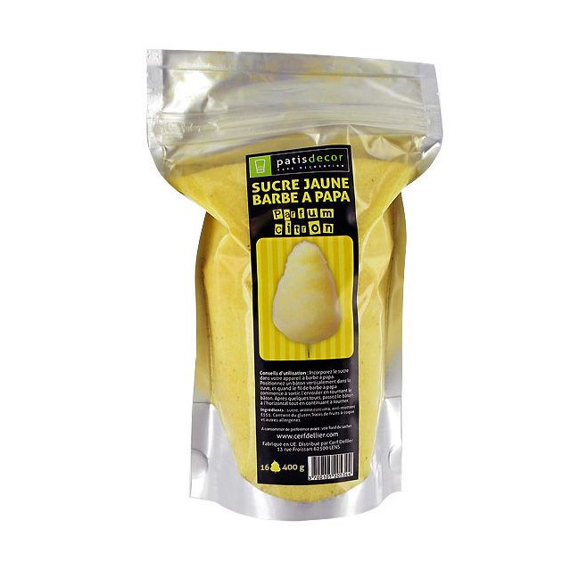 Sucre Barbe a Papa Citron 400 g Patisdecor