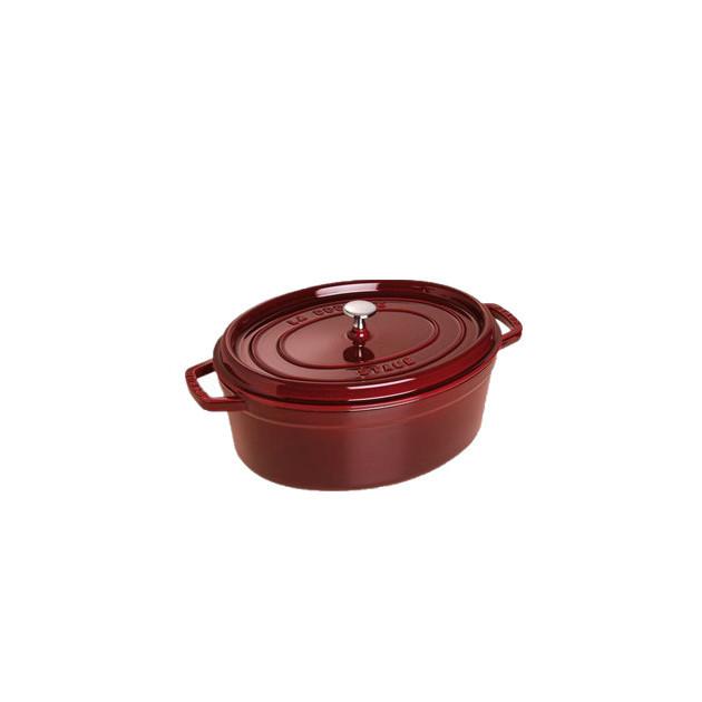 STAUB Cocotte Fonte Ovale 31 cm Grenadine Majolique 5.5 L