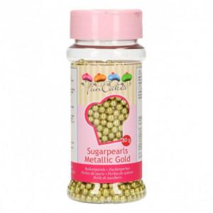 Perles de Sucre Or Métallique 80 g Funcakes