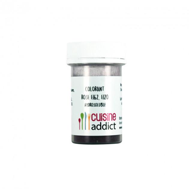 Colorant alimentaire Rose E162/E120 Poudre Hydrosoluble 10 g Cuisineaddict