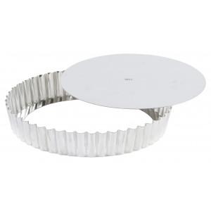 Moule à Tarte Fond Amovible 24 cm Fer Blanc Gobel