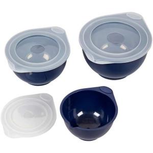 Bol Plastique avec Couvercle 0,95 L / 1,89 L / 2,84 L (x3) Wilton