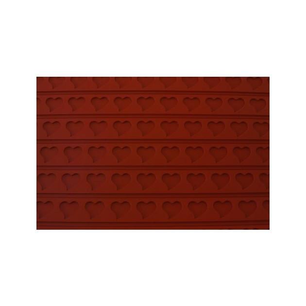 FIN DE SERIE Tapis Relief silicone Coeurs 30 mm