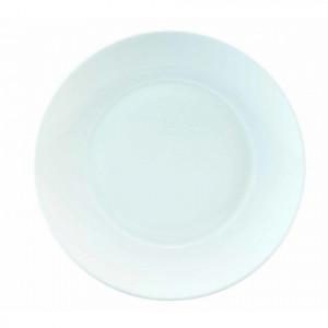 FIN DE SERIE Assiette plate grand bassin Galice en Porcelaine Blanche 27 cm