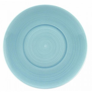 FIN DE SERIE Assiette de présentation Galice en Porcelaine Gris Perle 31 cm