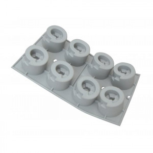 FIN DE SERIE Elastomoule Cylindre Escalier - Silicone de Buyer