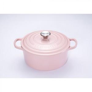 FIN DE SERIE Cocotte en Fonte Ronde 20 cm Chiffon Pink Le Creuset Signature