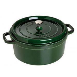STAUB Cocotte Fonte Ronde 28 cm Vert Basilic Majolique 6,7 L
