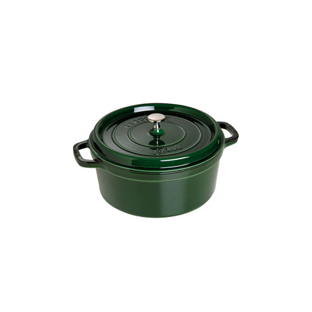 STAUB Cocotte Fonte Ronde 28 cm Vert Basilic Majolique 6.7 L