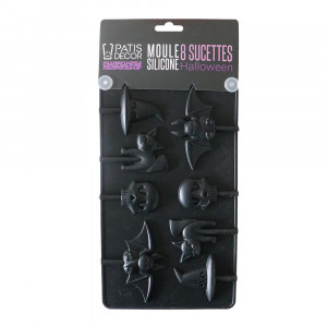 Moule Silicone Halloween 8 Sucettes Patisdécor