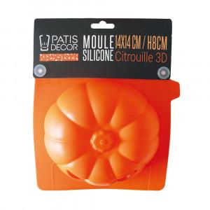 Moule Silicone Halloween Citrouille 3D 14 cm Patisdécor