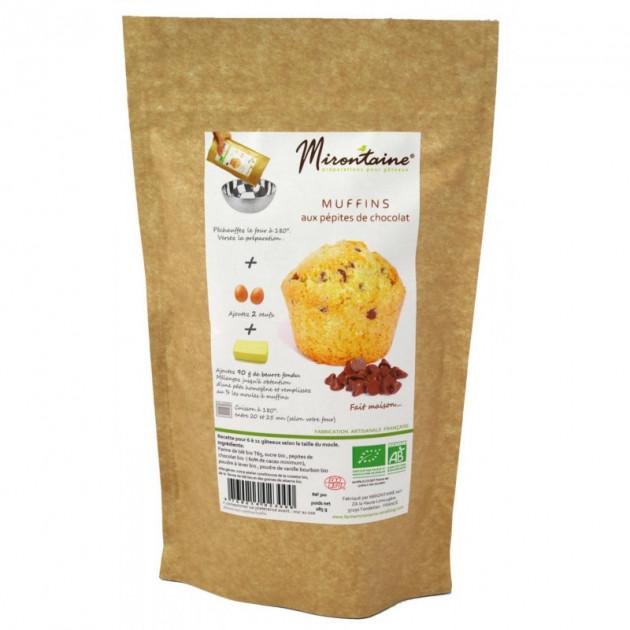 Muffins BIO aux Pepites de Chocolat 286g Mirontaine