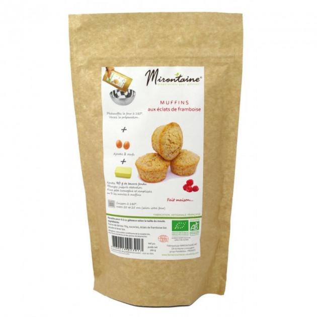 Muffins BIO aux Eclats de Framboise 260g Mirontaine