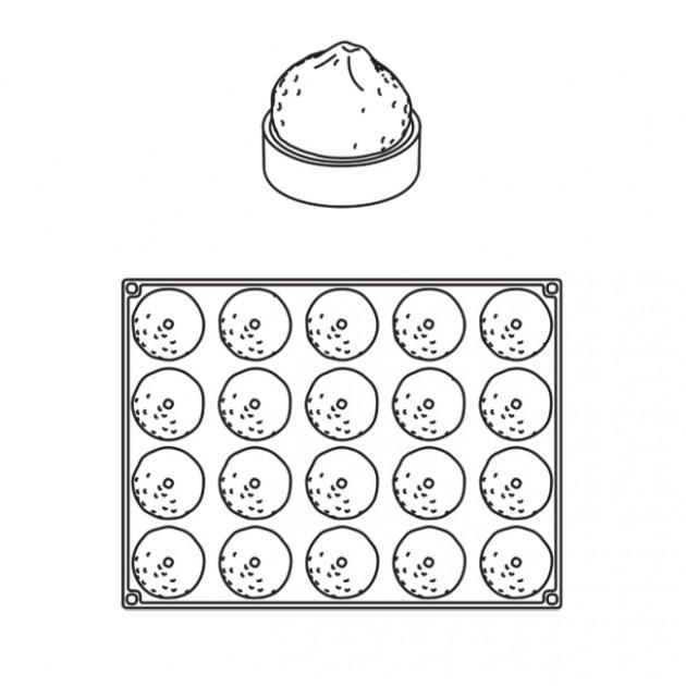 Dessin Moule Silicone Tartelette Citron