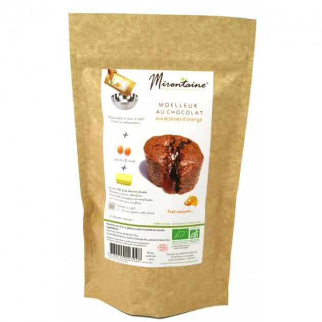 Moelleux BIO au Chocolat et a l'Orange 240g Mirontaine