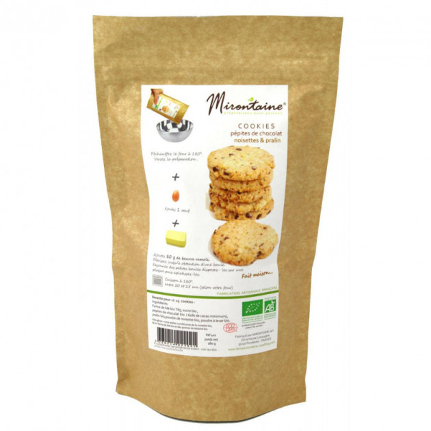 Cookies BIO Chocolat - Noisette 280g Mirontaine