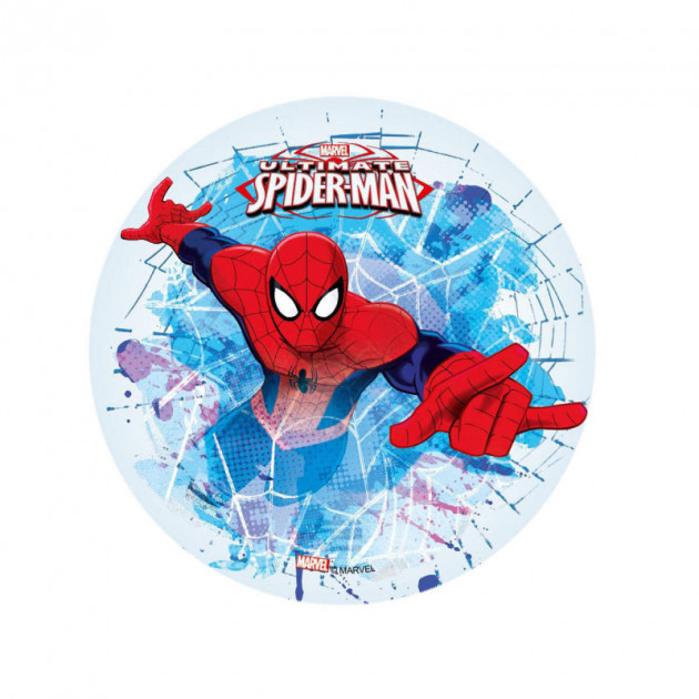 Disque Azyme Spiderman 21 cm Toile