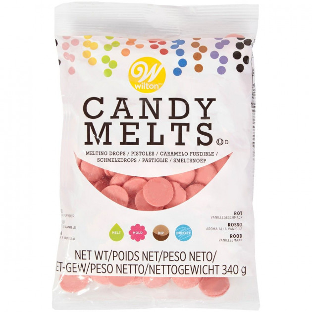 Candy Melts Rouge Clair 340 g Wilton