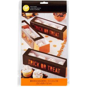 "Boîte Cupcake ""Trick or Treat"" 29,7 x 9 cm x H 7,6 cm (x3) Wilton"