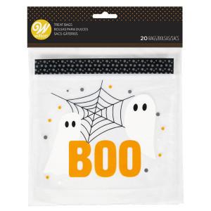 "Sachet Bonbon Fantômes ""Boo"" 20 x 17 cm (x20) Wilton"
