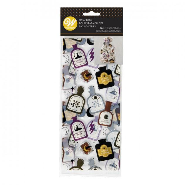 Sachet Bonbon Potions Magiques 10 x 5 cm x H 24 cm (x20) Wilton